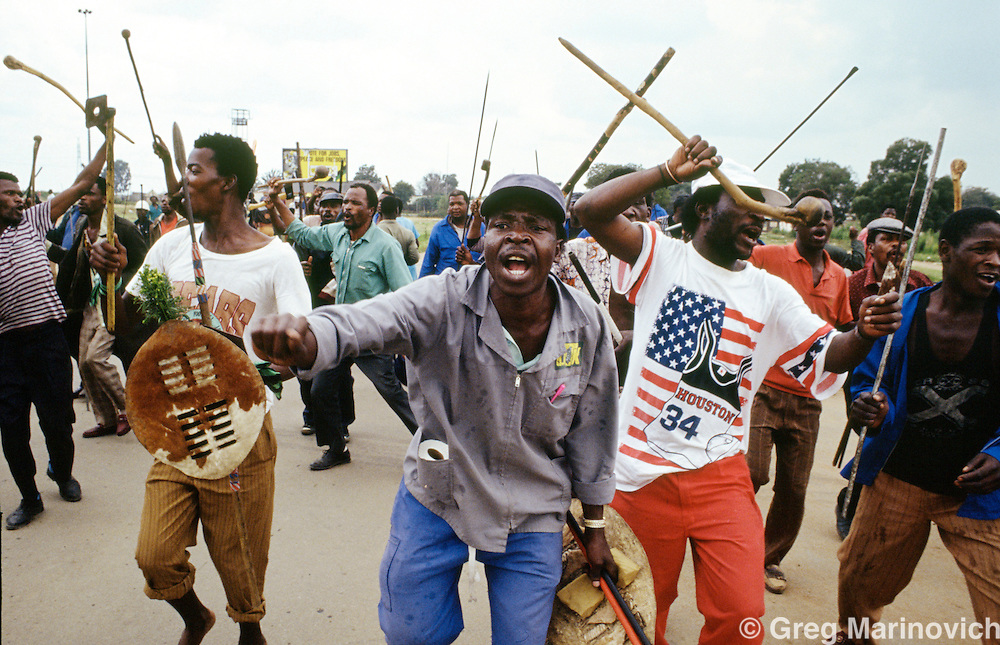 Inklatha Freedom Party supporters rally. 199  South Africa