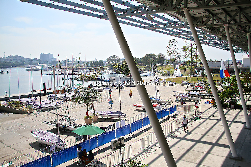 Olympic harbour Marina da Gloria, Rio de Janerio  - Day 9.<br /> Copyright photo: Richard Gladwell / www.photosport.nz
