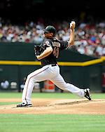 Apr. 7, 2012; Phoenix, AZ, USA; Arizona Diamondbacks pitcher Daniel Hudson (41) pitches against the San Francisco Giants at Chase Field.  The Diamondbacks defeated the Giants 5-4. Mandatory Credit: Jennifer Stewart-US PRESSWIRE..