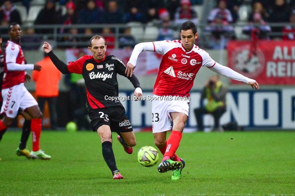 Aissa MANDI - 07.12.2014 - Reims / Guingamp - 17eme journee de Ligue 1 -<br />Photo : Dave Winter / Icon Sport