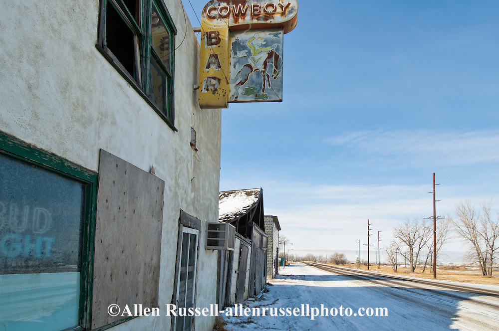 Cowboy bar, Dodson, Montana, highway 2, west of Malta