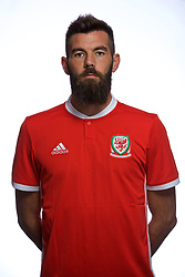 CARDIFF, WALES - Tuesday, September 4, 2018: Wales' Joe Ledley. (Pic by David Rawcliffe/Propaganda)