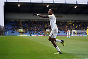 Goal, Ivan Toney of Peterborough United scores, Oxford United 0-1 Peterborough United during the EFL Sky Bet League 1 match between Oxford United and Peterborough United at the Kassam Stadium, Oxford, England on 16 February 2019.