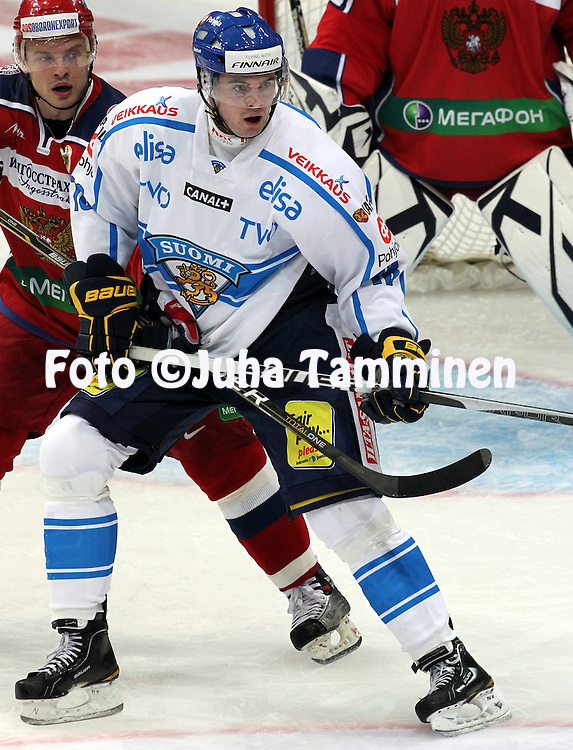 10.11.2011, Hartwall-Areena, Helsinki, Finland..Euro Hockey Tour - Karjala-turnaus 2011. Suomi - Venj / Finland v Russia..Jesse Joensuu - Suomi..