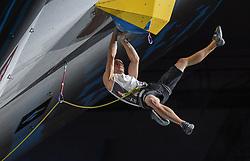 09.09.2018, Kletterzentrum, Innsbruck, AUT, IFSC, Kletter WM Innsbruck 2018, Halbfinale, Herren, Vorstieg, im Bild Max Rudigier (AUT) // Max Rudigier of Austria during Semi-Finals of Men Lead for the IFSC Climbing World Championships 2018 at the Kletterzentrum in Innsbruck, Austria on 2018/09/09. EXPA Pictures © 2018, PhotoCredit: EXPA/ Erich Spiess