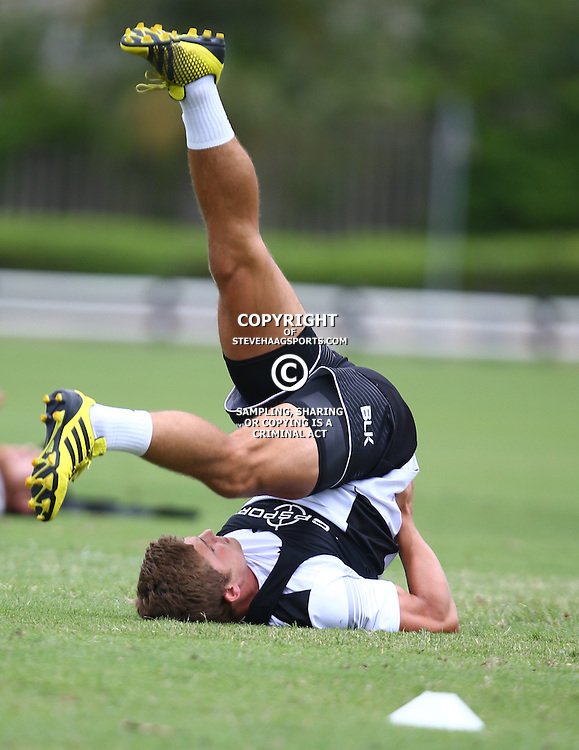 DURBAN, SOUTH AFRICA, January 2016 - Patrick Lambie during The Cell C Sharks Pre Season training Tuesday 12th January 2016,for the 2016 Super Rugby Season at Growthpoint Kings Park in Durban, South Africa. (Photo by Steve Haag)<br /> images for social media must have consent from Steve Haag