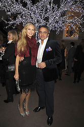 FRANKIE JOHN and BALDASSARE DE LA RIZZA at the Asprey Winter Wonderland party held at their store, 167 New Bond Street, London on 4th December 2008.