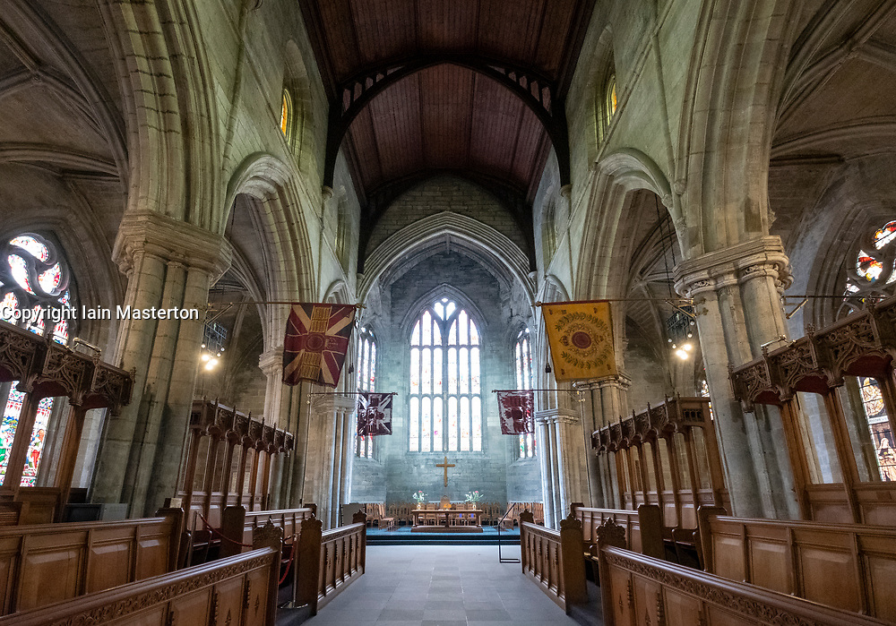 Interior of 15th Century at Holy Rude Church in Stirling, Scotland ,UK