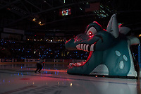 KELOWNA, CANADA - MARCH 25: The Kelowna Rockets take on the Kamloops Blazers on March 25, 2017 at Prospera Place in Kelowna, British Columbia, Canada.  (Photo by Marissa Baecker/Shoot the Breeze)  *** Local Caption ***