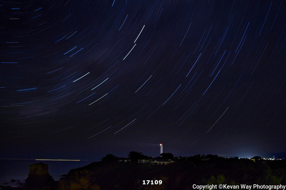 star trails at Aireys Inlet