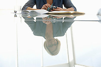 Business woman working in conference room