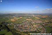 aerial photograph of Aspull Wigan  Lancashire UK