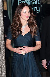 The Duchess of Cambridge leaving a  charity event at the National Portrait Gallery in  London, Tuesday, 11th February 2014. Picture by Stephen Lock / i-Images