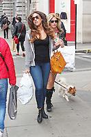 LONDON - April 29: Gabriella Ellis shopping in Oxford Street (Photo by Brett D. Cove)