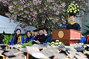 James Meng-Ju Wu speaks at the University of Rochester's Commencement Ceremony on Sunday, May 18, 2014.