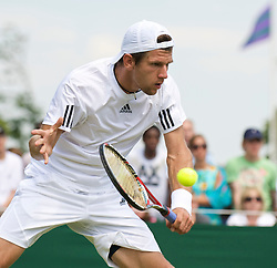 LONDON, ENGLAND - Thursday, June 25, 2009: Jurgen Melzer (AUT) during the Gentlemen's Singles 2nd Round match on day four of the Wimbledon Lawn Tennis Championships at the All England Lawn Tennis and Croquet Club. (Pic by David Rawcliffe/Propaganda)
