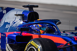February 26, 2019 - Montmelo, BARCELONA, Spain - BARCELONA, SPAIN, 26th of February 2019. #23 Alexander ALBON driver of Toro Rosso during the winter test at Circuit de Barcelona Catalunya. (Credit Image: © AFP7 via ZUMA Wire)
