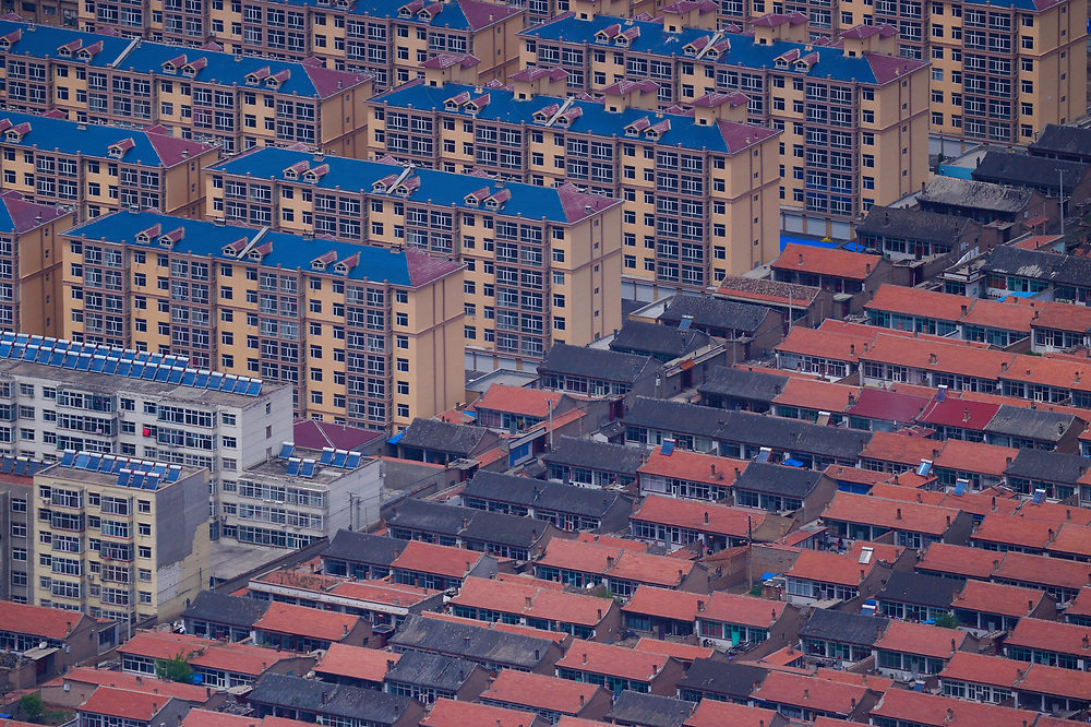 Datong town is growing, Beiyue Hengshan Mountain, Datong, Hunyuan County, Shanxi Province, China