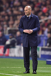 March 6, 2018 - Paris, U.S. - Zinedine Zidane - Entraineur (Real Madrid)  during the Champions League match Real Madrid at Paris Saint-Germain on March 6, 2018 in Paris, France. (Photo by JB Autissier/Panoramic/Icon Sportswire) ****NO AGENTS---NORTH AND SOUTH AMERICA SALES ONLY****NO AGENTS---NORTH AND SOUTH AMERICA SALES ONLY* (Credit Image: © Jb Autissier/Icon SMI via ZUMA Press)