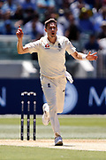 Tom Curran reacts to a close call during the Magellan fourth test match between Australia v England at  the Melbourne Cricket Ground, Melbourne, Australia on 26 December 2017. Photo by Mark  Witte.