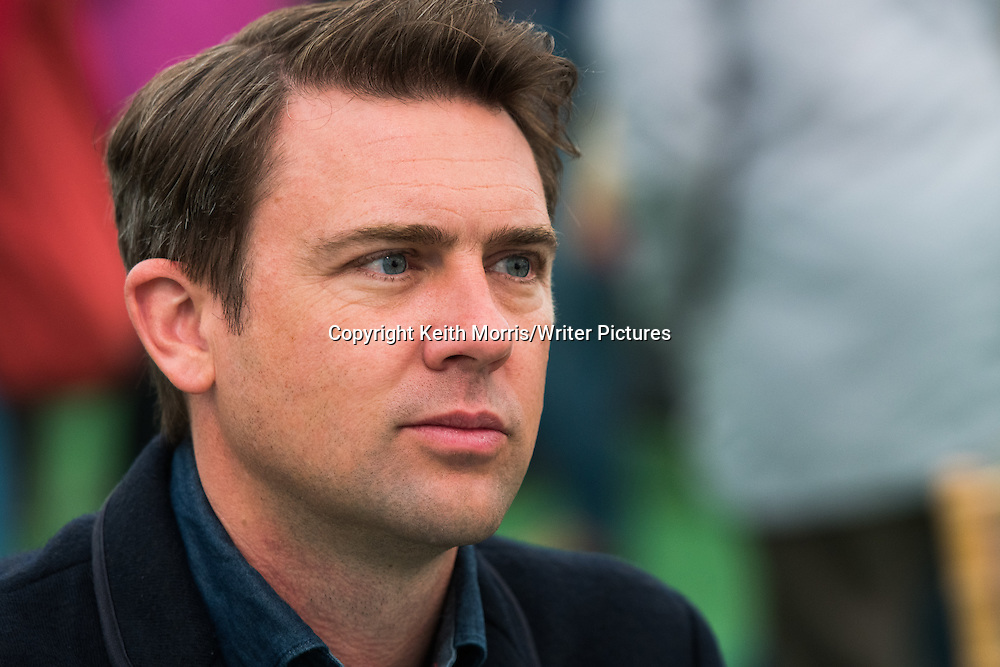 Owen Sheers, welsh writer, novelist, poet, dramatist . The Hay Festival of Literature and the Arts, Hay on Wye, Powys, Wales UK, June 01 2016<br /> <br /> Picture by Keith Morris/Writer Pictures