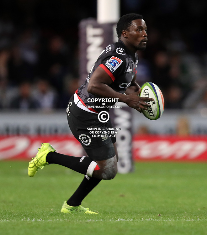 DURBAN, SOUTH AFRICA - MAY 27: Lwazi Mvovo of the Cell C Sharks during the Super Rugby match between Cell C Sharks and DHL Stormers at Growthpoint Kings Park on May 27, 2017 in Durban, South Africa. (Photo by Steve Haag/Gallo Images)