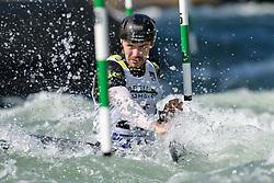 Thomas ABBOTT of Great Britain during the Canoe Single (C1) Men SemiFinal race of 2019 ICF Canoe Slalom World Cup 4, on June 28, 2019 in Tacen, Ljubljana, Slovenia. Photo by Sasa Pahic Szabo / Sportida
