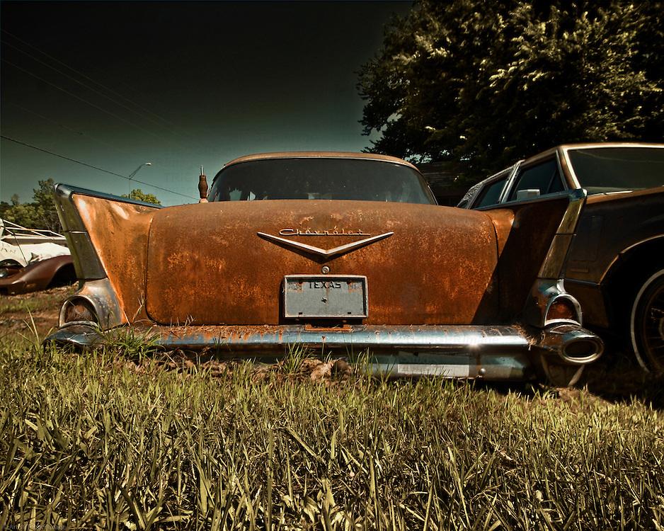 Rusty classic Chevrolet in USA