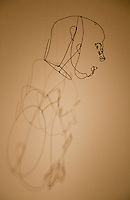 National Gallery, Washington DC, Calder Collection. Wire head figure.