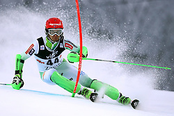 06.01.2015, Crveni Spust, Zagreb, CRO, FIS Weltcup Ski Alpin, Zagreb, Herren, Slalom, 1. Lauf, im Bild Miha Kuerner (SLO) // Miha Kuerner of Slovenia in action during 1st run of men's Slalom of FIS Ski Alpine Worldcup at the Crveni Spust in Zagreb, Croatia on 2015/01/06. EXPA Pictures © 2015, PhotoCredit: EXPA/ Pixsell/ Goran Stanzl<br /> <br /> *****ATTENTION - for AUT, SLO, SUI, SWE, ITA, FRA only*****