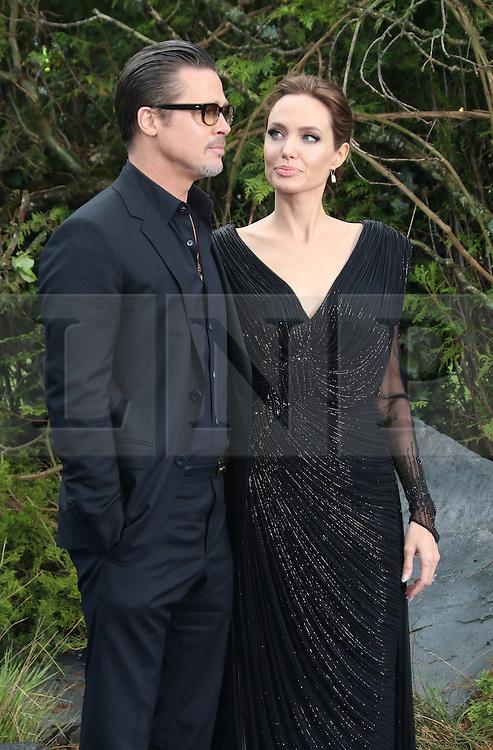 Brad Pitt; Angelina Jolie, Maleficent - private reception, Kensington Palace, London UK, 08 May 2014, Photo by Richard Goldschmidt