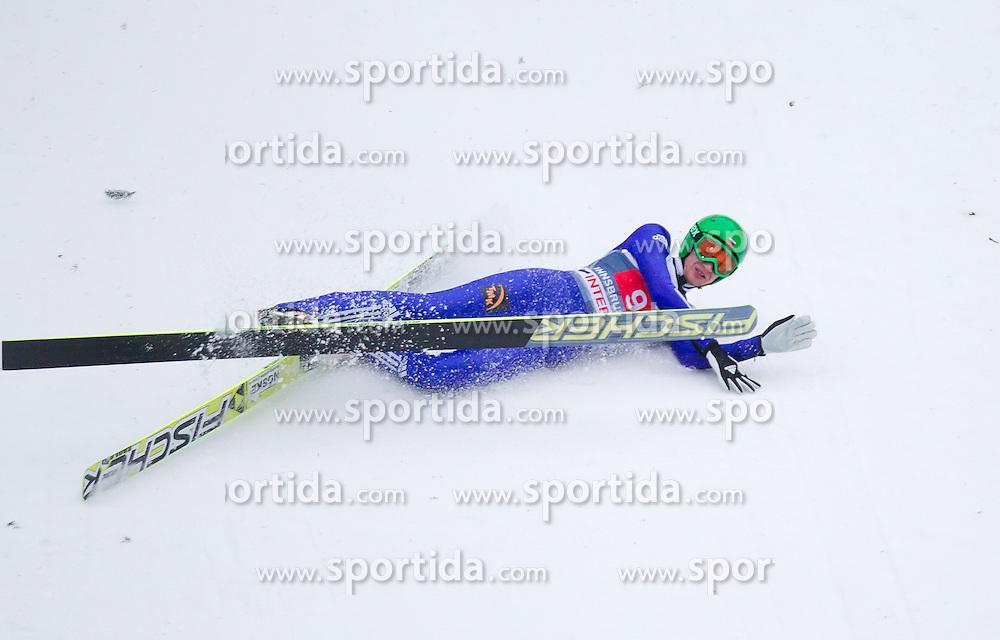 04.01.2014, Bergisel Schanze, Innsbruck, AUT, FIS Ski Sprung Weltcup, 62. Vierschanzentournee, Bewerb, im Bild Sturz von Denis Kornilov (RUS) // Denis Kornilov (RUS) crashed during Competition of 62nd Four Hills Tournament of FIS Ski Jumping World Cup at the Bergisel Schanze, Innsbruck, Austria on 2014/01/04. EXPA Pictures © 2014, PhotoCredit: EXPA/ JFK