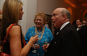 Celia walden, Lady Antonia Pinter and Julian Fellowes, National Portrait Gallery  150th Anniversary Fundraising Gala. National Portrait Gallery. London. 28 February 2006. ONE TIME USE ONLY - DO NOT ARCHIVE  © Copyright Photograph by Dafydd Jones 66 Stockwell Park Rd. London SW9 0DA Tel 020 7733 0108 www.dafjones.com