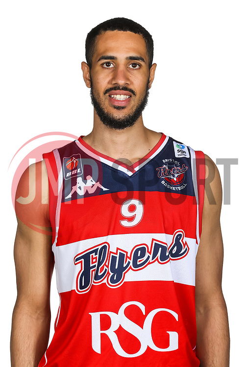 poses for a headshot during the Bristol Flyers Media Day - Rogan/JMP - 16/09/2017 - Ashton Gate Stadium - Bristol, England.