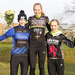 08-12-2019: Wielrennen: veldrit: Almelo<br />podium nwl-meisjes Pem Hoefsma, Ilse Looienga, Julia van der Meulen