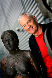 UK ENGLAND WILTSHIRE MALMESBURY 14SEP06 - Inventor and company chairman James Dyson (58) poses for a portrait with moulded bronze statues at the Dyson headquarters in Malmesbury, Wiltshire. His company - with its distinctive range of boldly-coloured products - is now said to be Europe's fastest growing manufacturer and has achieved sales of over £3bn worldwide, with £35m profit in 2000...jre/Photo by Jiri Rezac..© Jiri Rezac 2006..Contact: +44 (0) 7050 110 417.Mobile:  +44 (0) 7801 337 683.Office:  +44 (0) 20 8968 9635..Email:   jiri@jirirezac.com.Web:    www.jirirezac.com..© All images Jiri Rezac 2006 - All rights reserved.