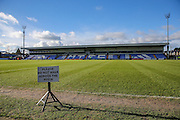 General stadium view of Moss Rose during the FA Trophy match between Macclesfield Town and Forest Green Rovers at Moss Rose, Macclesfield, United Kingdom on 4 February 2017. Photo by Shane Healey.