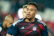 Bayern Munich's French midfielder Corentin Tolisso warms up before the UEFA Champions League, Group B football match between Paris Saint-Germain and Bayern Munich on September 27, 2017 at the Parc des Princes stadium in Paris, France - Photo Benjamin Cremel / ProSportsImages / DPPI