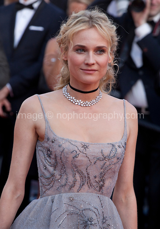 Diane Kruger at the 70th Anniversary Ceremony arrivals at the 70th Cannes Film Festival Tuesday 23rd May 2017, Cannes, France. Photo credit: Doreen Kennedy
