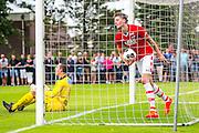 UITGEEST - 09-07-2016, AZ - FC Volendam, Complex FC Uitgeest, 8-1, AZ speler Wout Weghorst heeft hier de 6-0 gescoord, doelpunt.