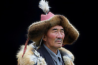 Mongolie. Province de Bayan Olgii. Chasseur Kazakh. // Mongolia. Bayan Olgii province. Kazakh hunter.