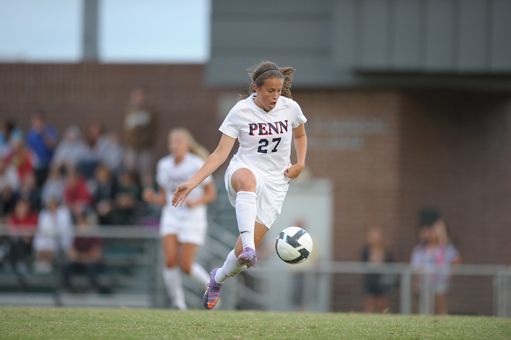 PHILADELPHIA - SEPTEMBER 10:  Penn  women's soccer defeated St Joe's 1-0 on September 10, 2010 at UPenn in Philadelphia, Pennsylvania. (Photo by Drew Hallowell)