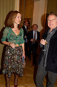 Rowan Pelling and Bob Bentley, Opening by Vivienne Westwood of Boucher: Seductive Visions.  The Wallace Collection. Manchester Sq. London. 29 September 2004. SUPPLIED FOR ONE-TIME USE ONLY-DO NOT ARCHIVE. © Copyright Photograph by Dafydd Jones 66 Stockwell Park Rd. London SW9 0DA Tel 020 7733 0108 www.dafjones.com