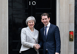 November 22, 2018 - London, United Kingdom - British Prime Minister THERESA MAY meets Austrian Chancellor, SEBASTIAN KURZ for talks about the Brexit deal. (Credit Image: © Mark Thomas/i-Images via ZUMA Press)