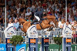 WULSCHNER Holger (GER), DORETTE<br /> Münster - Turnier der Sieger 2019<br /> Grosser Preis von Münster - Siegerrunde<br /> BEMER Riders Tour Etappenwertung<br /> CSI4* - Int. Jumping competition over 2 rounds (1.60 m)<br /> 04. August 2019<br /> © www.sportfotos-lafrentz.de/Stefan Lafrentz