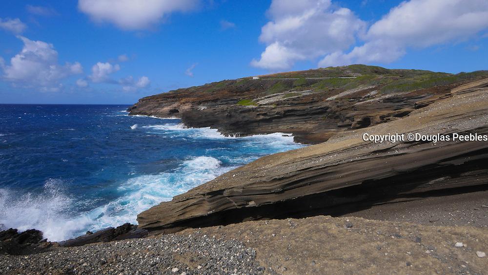 Surf into cliff, Hawaii Kai, Oahu, Hawaii