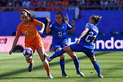 June 30, 2019 - Valenciennes, France - Jill Roord (NED), Annamaria Serturini (ITA) and Valentina Cernoia (ITA)  during the quarter-final between in ITALY and NETHERLANDS the 2019 women's football World cup at Stade du Hainaut, on the 29 June 2019. (Credit Image: © Julien Mattia/NurPhoto via ZUMA Press)