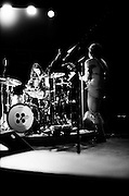 BIRMINGHAM, AL – JULY 7, 2007: Singer-songwriters Jack and Meg White of rock and roll band The White Stripes performs as Sloss Furnace.