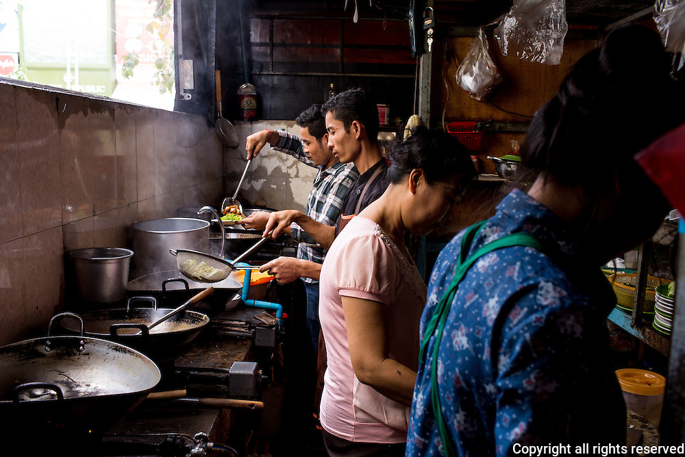 In the kitchen of Chanreash 10 Makara Restaurant