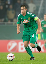 20.10.2016, Weststadion, Wien, AUT, UEFA EL, SK Rapid Wien vs US Sassuolo Calcio, Gruppe F, im Bild Stefan Schwab (SK Rapid Wien) // during a UEFA Europa League, group F game between SK Rapid Wien and US Sassuolo Calcio at the Weststadion, Vienna, Austria on 2016/10/20. EXPA Pictures © 2016, PhotoCredit: EXPA/ Sebastian Pucher